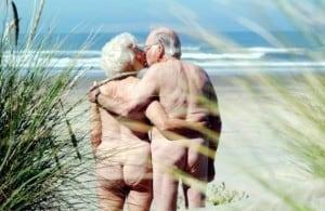 altes Paar am Strand