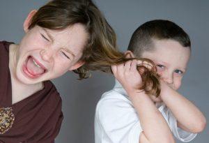 Bully pulling hair