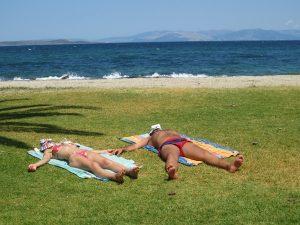 Sonnenbad am Meer