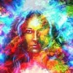 Mystisches Frauengesicht, fotolia