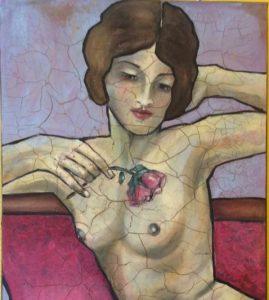 Frau mit Rose © Hilly Kessler*